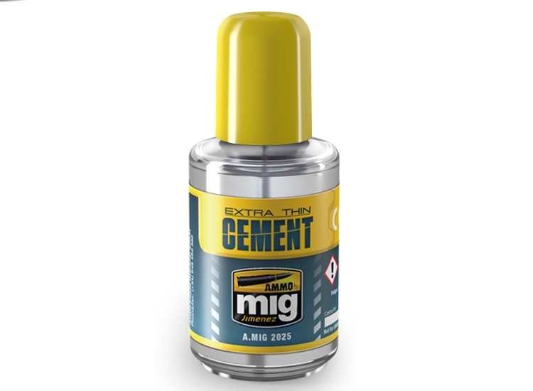 Ammo Mig 30ml 2025 Extra Thin Cement / Glue for Plastic Kits