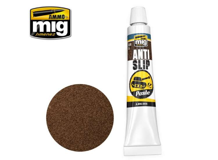Ammo Mig Anti Slip Paste - Brown 2035
