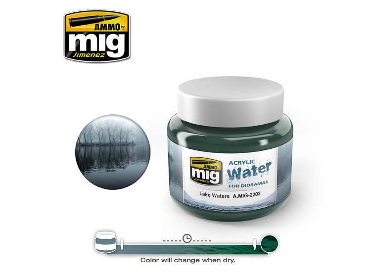 Ammo Mig 250ml 2202 Lake Waters - Acrylic Gel Water