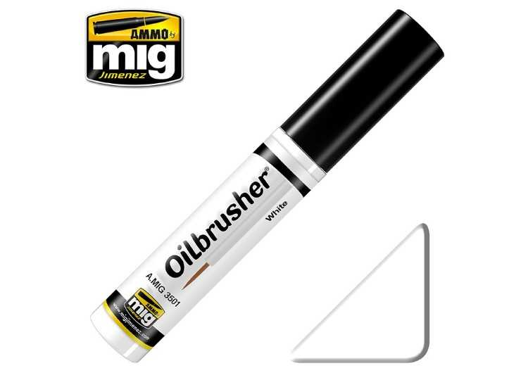 Ammo Mig 10ml 3501 Oilbrusher Paint - White