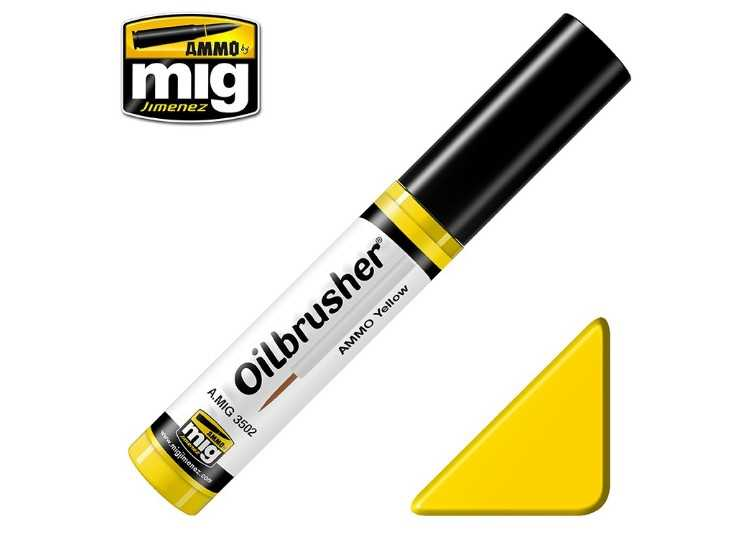Ammo Mig 10ml 3502 Oilbrusher Paint - Ammo Yellow