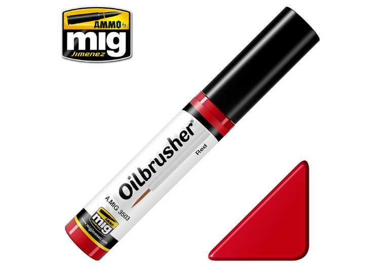 Ammo Mig 10ml 3503 Oilbrusher Paint - Red