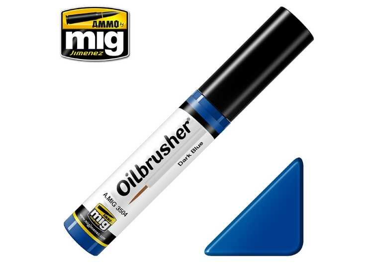 Ammo Mig 10ml 3504 Oilbrusher Paint - Dark Blue