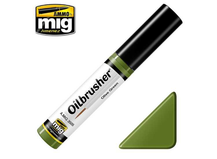 Ammo Mig 10ml 3505 Oilbrusher Paint - Olive Green
