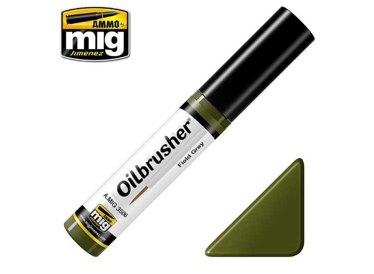 Ammo Mig 10ml 3506 Oilbrusher Paint - Field Green