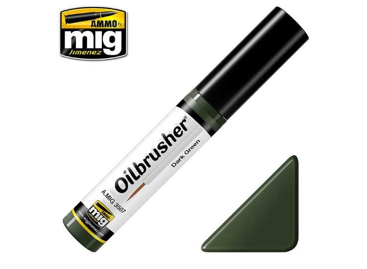 Ammo Mig 10ml 3507 Oilbrusher Paint - Dark Green