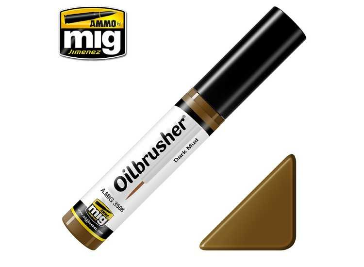Ammo Mig 10ml 3508 Oilbrusher Paint - Dark Mud