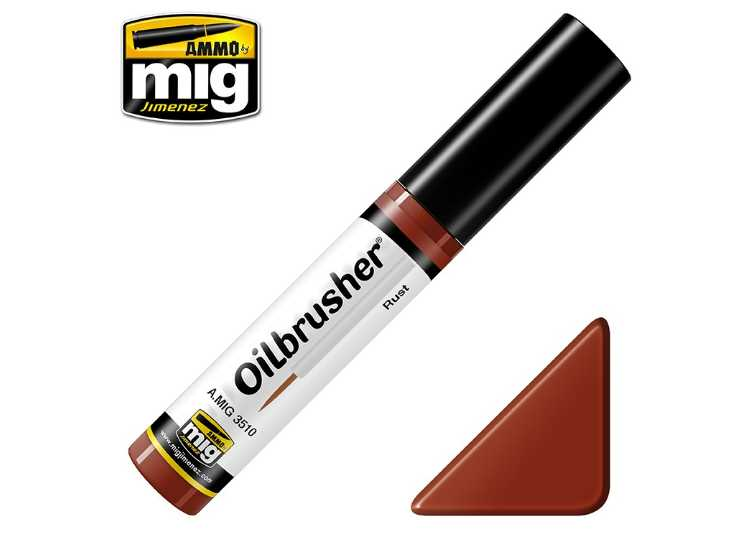 Ammo Mig 10ml 3510 Oilbrusher Paint - Rust