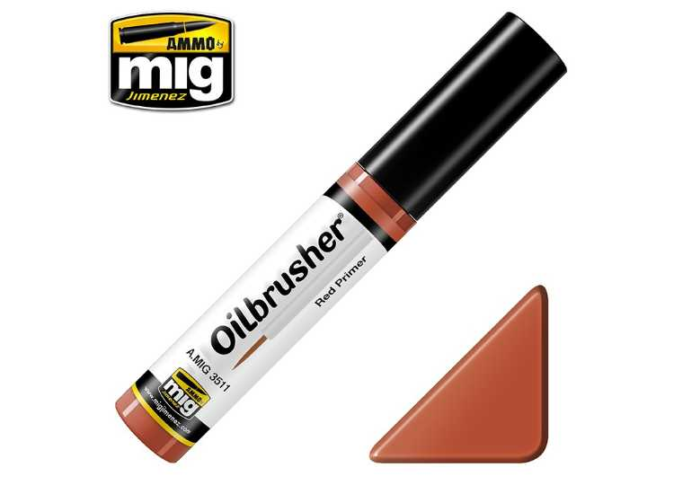 Ammo Mig 10ml 3511 Oilbrusher Paint - Red Primer