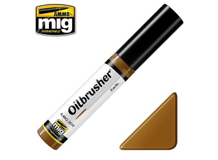 Ammo Mig 10ml 3514 Oilbrusher Paint - Earth