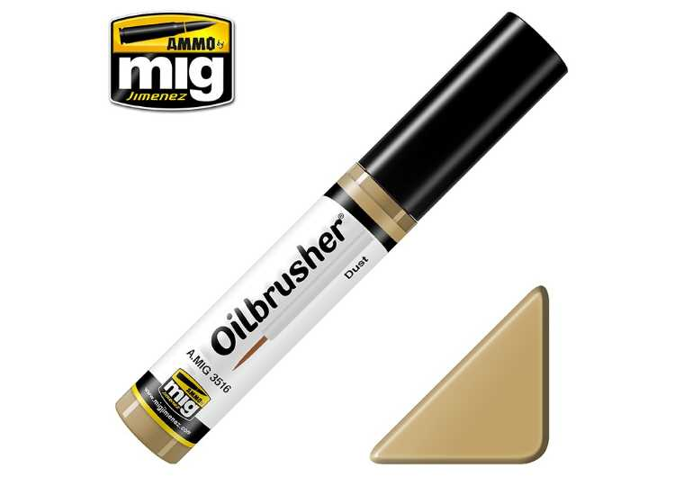 Ammo Mig 10ml 3516 Oilbrusher Paint - Dust