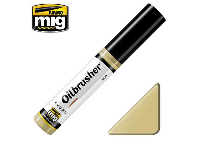 Ammo Mig 10ml 3517 Oilbrusher Paint - Buff