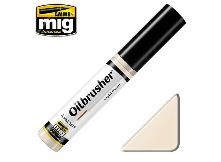 Ammo Mig 10ml 3519 Oilbrusher Paint - Light Flesh