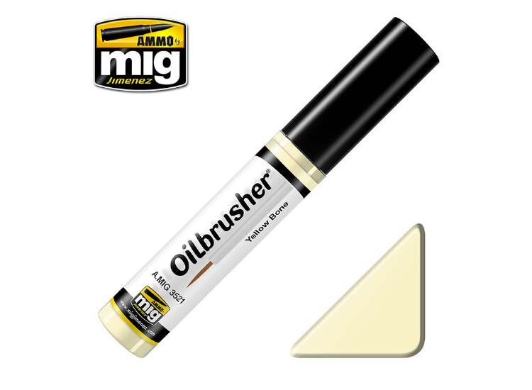 Ammo Mig 10ml 3521 Oilbrusher Paint - Yellow Bone