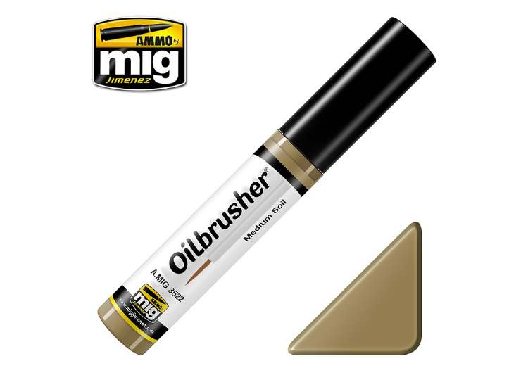 Ammo Mig 10ml 3522 Oilbrusher Paint - Medium Soil