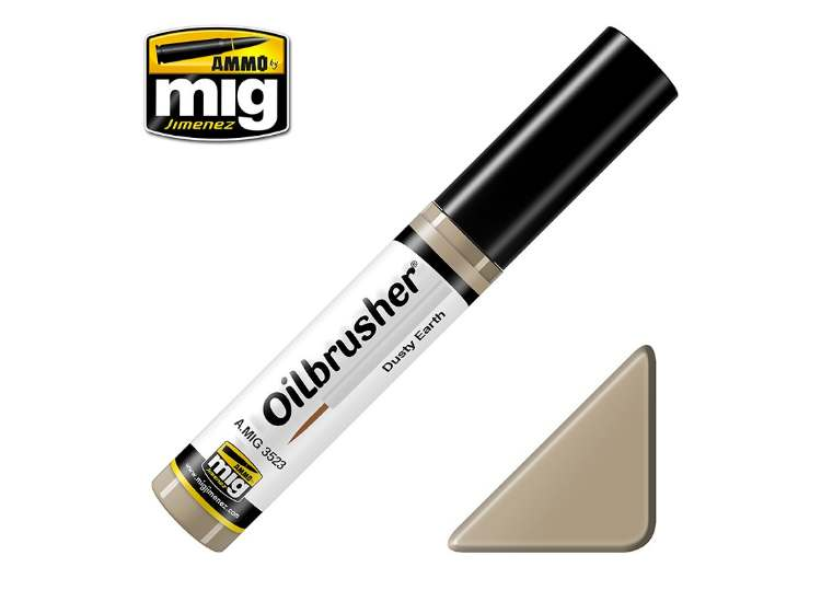 Ammo Mig 10ml 3523 Oilbrusher Paint - Dusty Earth