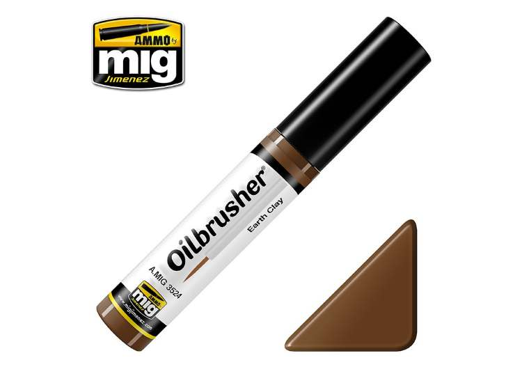 Ammo Mig 10ml 3524 Oilbrusher Paint - Earth Clay