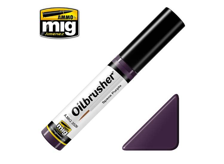 Ammo Mig 10ml 3526 Oilbrusher Paint - Space Purple