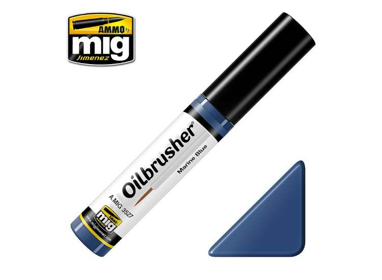 Ammo Mig 10ml 3527 Oilbrusher Paint - Marine Blue