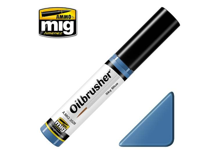 Ammo Mig 10ml 3528 Oilbrusher Paint - Sky Blue
