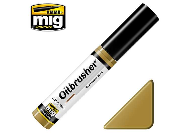 Ammo Mig 10ml 3534 Oilbrusher Paint - Summer Soil