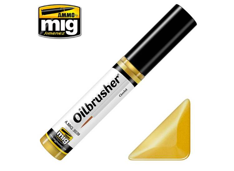Ammo Mig 10ml 3539 Oilbrusher Paint - Gold