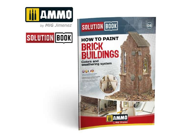 Ammo Mig How to Paint Brick Buildings. Colors & Weathering System Solution Book 6510