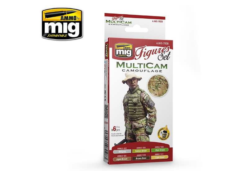 Ammo Mig 17ml x6 7028 Multicam Camouflage - Acrylic Paint Set