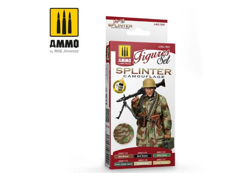 Ammo Mig 17ml x6 7029 German Splinter Camouflage - Acrylic Paint Set