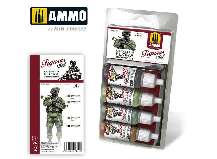 Ammo Mig 17ml x4 7031 Russian Flora Uniforms - Acrylic Paint Set
