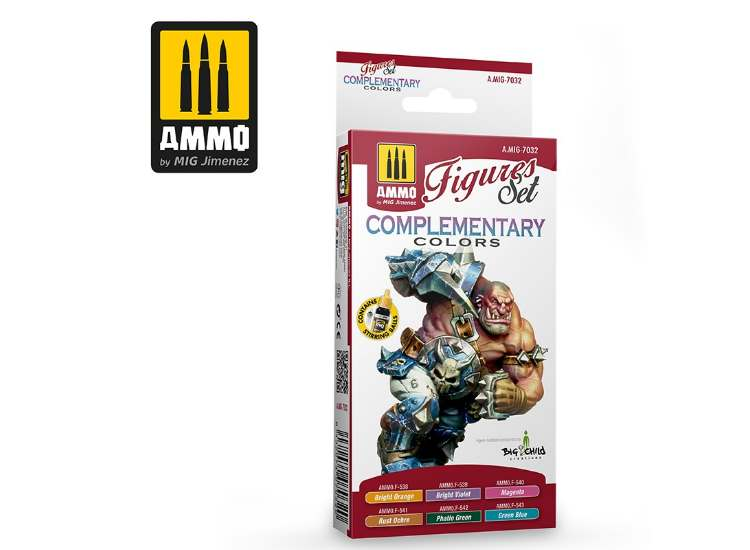 Ammo Mig 17ml x6 7032 Complimentary Figure Colours - Acrylic Paint Set