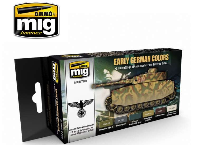 Ammo Mig Early German Colours Acrylic Paint Set 7100