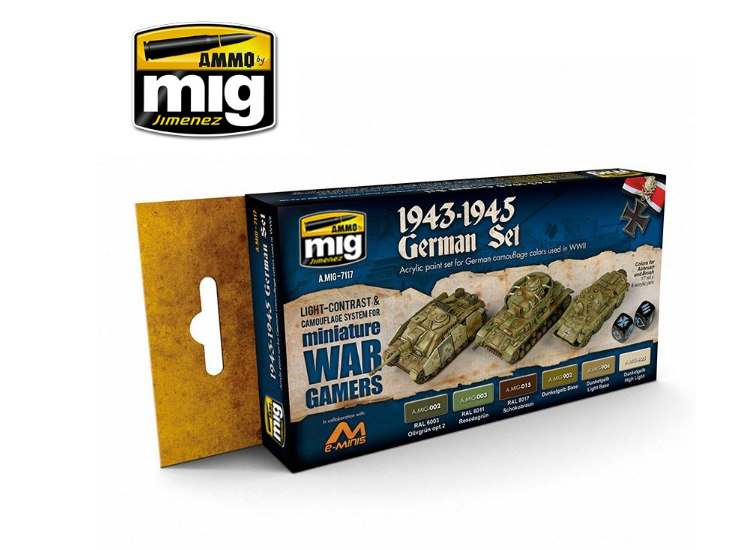 Ammo Mig 17ml x6 7117 Wargame 1943-1945 German - Acrylic Paint Set