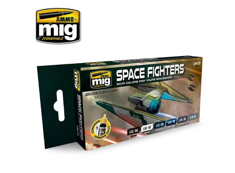 Ammo Mig 17ml x6 7131 Star Fighters Sci-Fi - Acrylic Paint Set