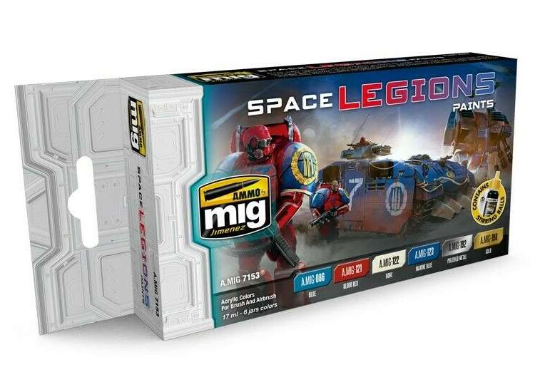 Ammo Mig 17ml x6 7153 Space Legions - Acrylic Paint Set