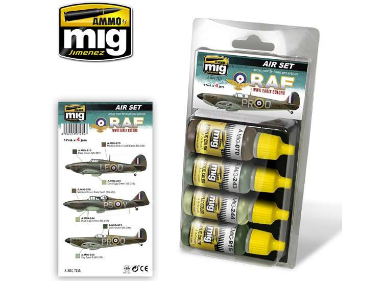 Ammo Mig Early WWII RAF colours - Acrylic Paint Set 7215