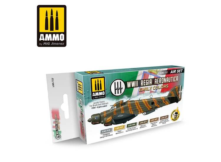 Ammo Mig 17ml x6 7237 Regia Aeronautica Early -  Acrylic Paint Set