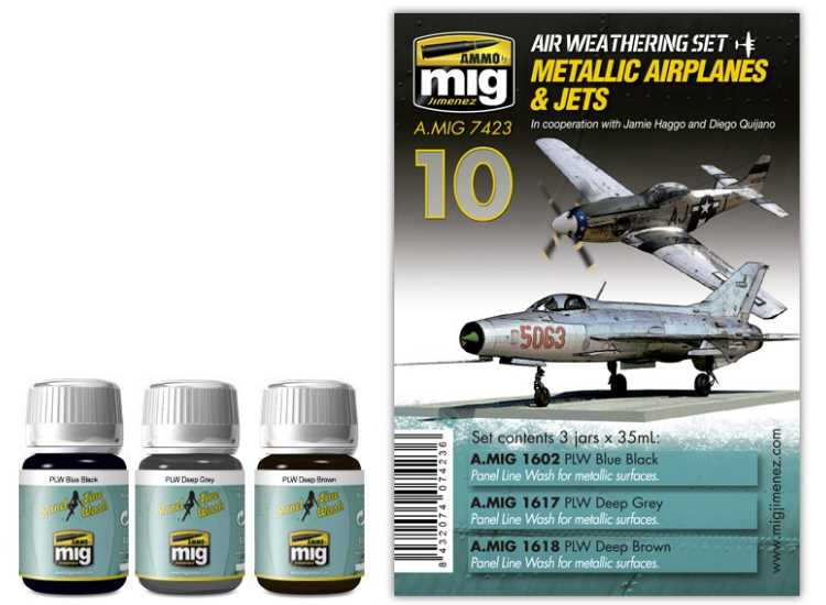 Ammo Mig Metallic Jets / Aircraft Weathering Set 7423
