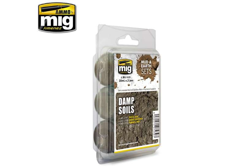 Ammo Mig Damp Soils, Mud and Earth Set 7439