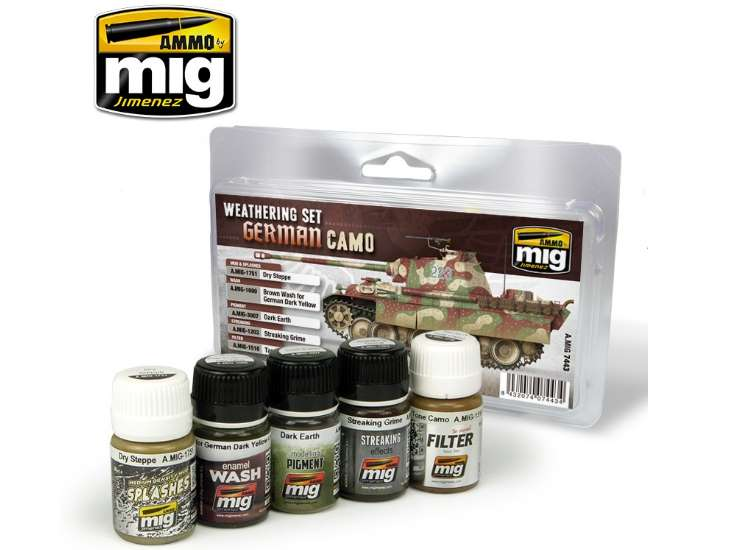 Ammo Mig German Camouflage Weathering Set 7443
