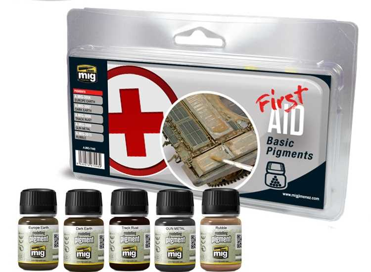 Ammo Mig First Aid Basic Pigments Set 7448
