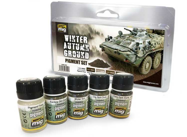 Ammo Mig Winter / Autumn Ground Pigment Set