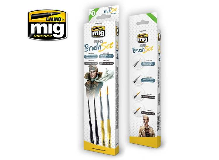 Ammo Mig - 7600 Figures Brush Set