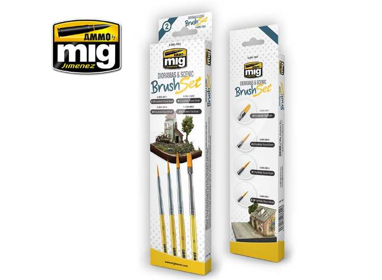Ammo Mig - 7601 Dioramas and Figures Brush Set