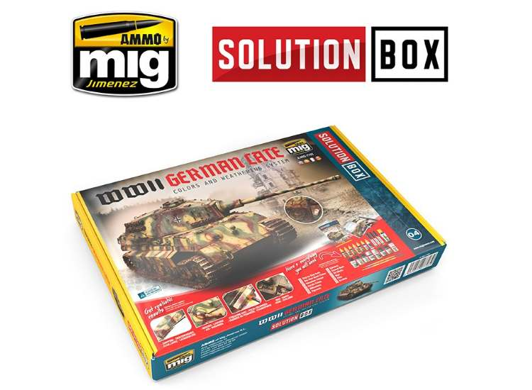 Ammo Mig - 7703 WWII German Vehicle Solution Box