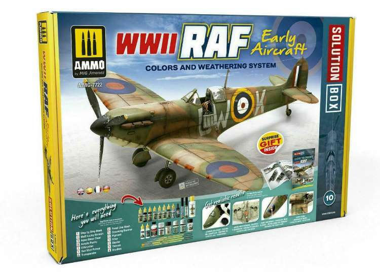 Ammo Mig - 7722 Early RAF Aircraft Painting / WeatheringSolution Box