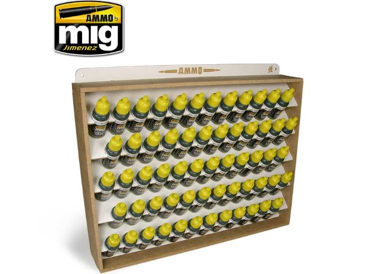 Ammo Mig 17ml Paint etc Bottle Storage System (Stores 60)