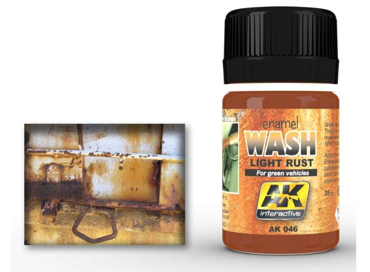 Light Rust Wash for Green Vehicles