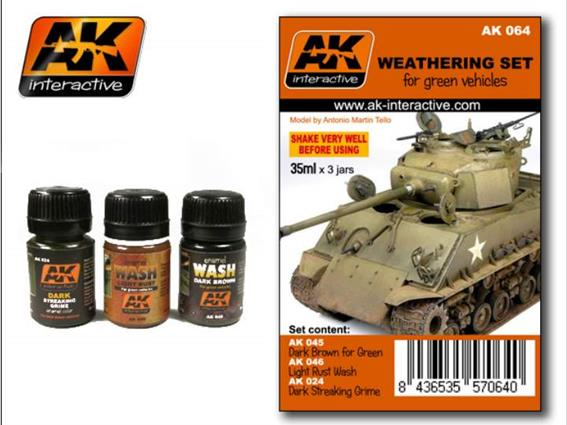 AK Interactive Weathering Set For Green Vehicles 00064