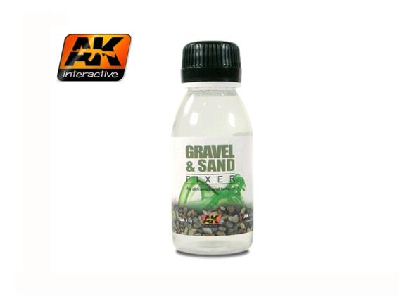 AK Interactive 100ml 00118 Sand and Gravel Fixer